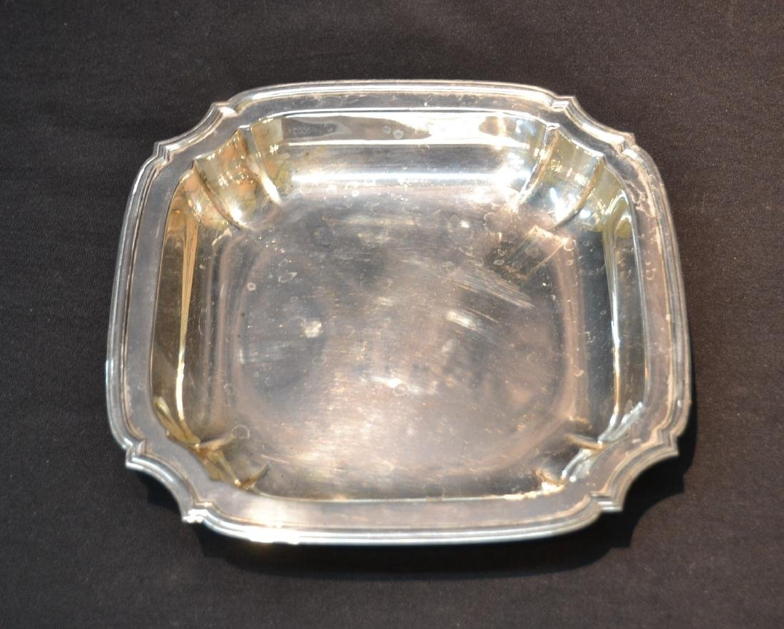 "TIFFANY MAKERS STERLING SILVER TRAY - 9"" x 9"""