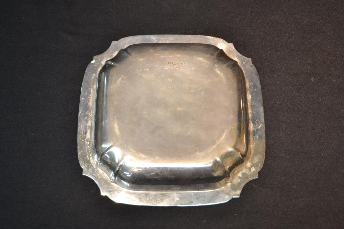 "TIFFANY MAKERS STERLING SILVER TRAY - 9"" x 9"" - 5"