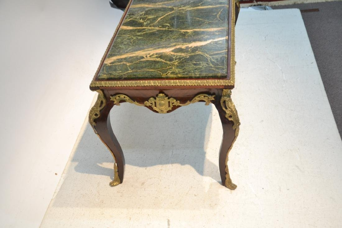 MARBLE TOP COFFEE TABLE WITH BRONZE MOUNTS - 6