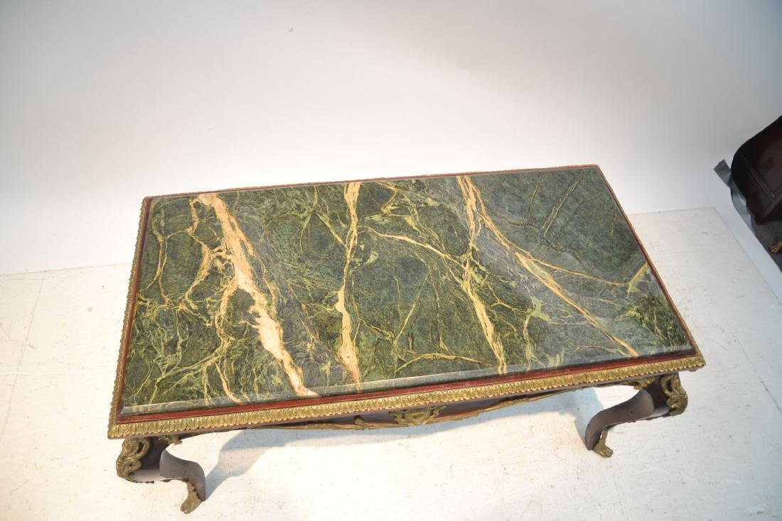 MARBLE TOP COFFEE TABLE WITH BRONZE MOUNTS - 7