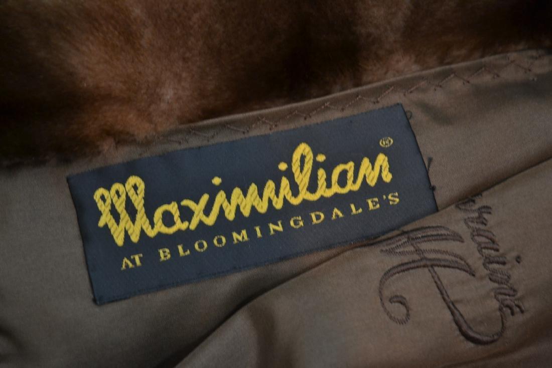 MAXIMILIAN WILD MINK FUR COAT - SIZE 12 ; - 7