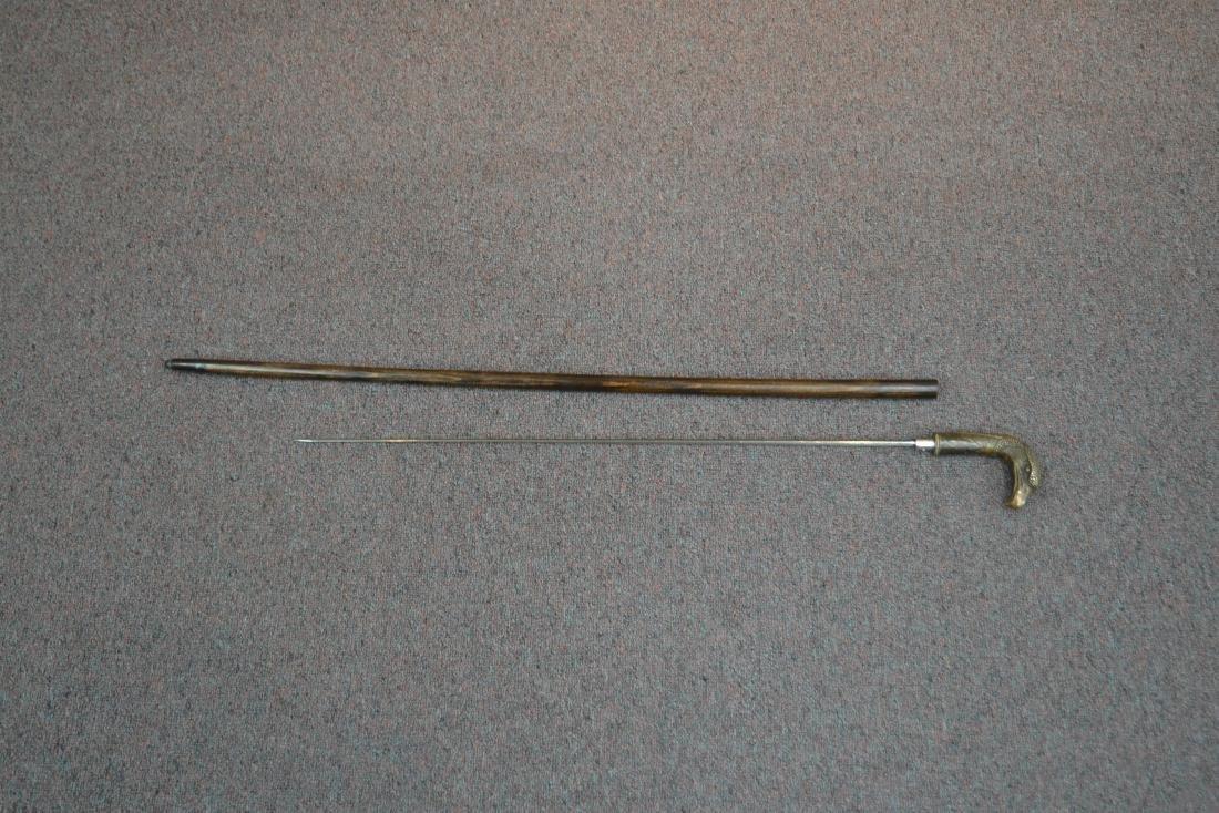 SWORD CANE WITH BRONZE BIRD HEAD HANDLE - 4