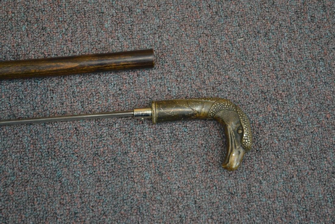 SWORD CANE WITH BRONZE BIRD HEAD HANDLE - 7