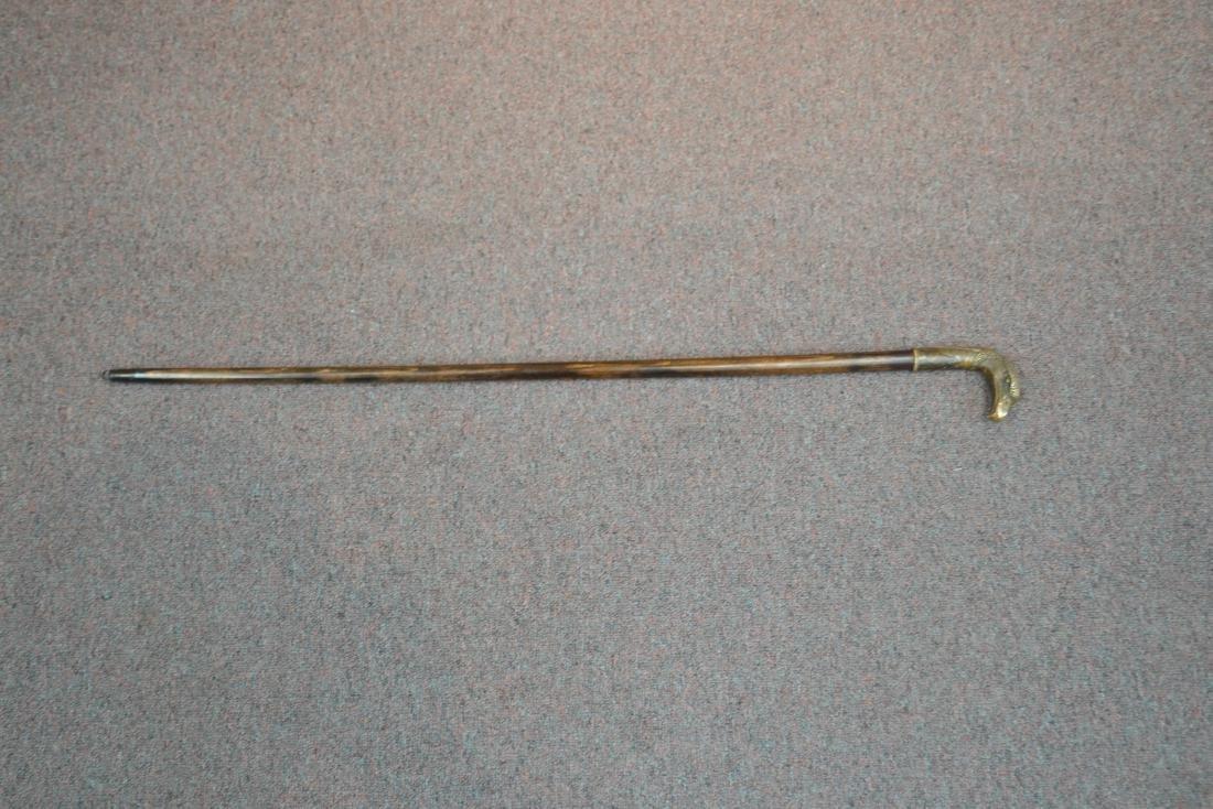 SWORD CANE WITH BRONZE BIRD HEAD HANDLE - 9
