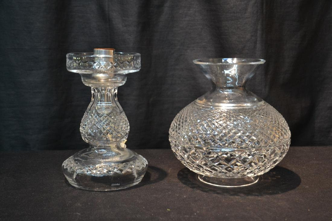 "WATERFORD CRYSTAL LAMP - 6 1/2"" x 14 1/2"" - 2"