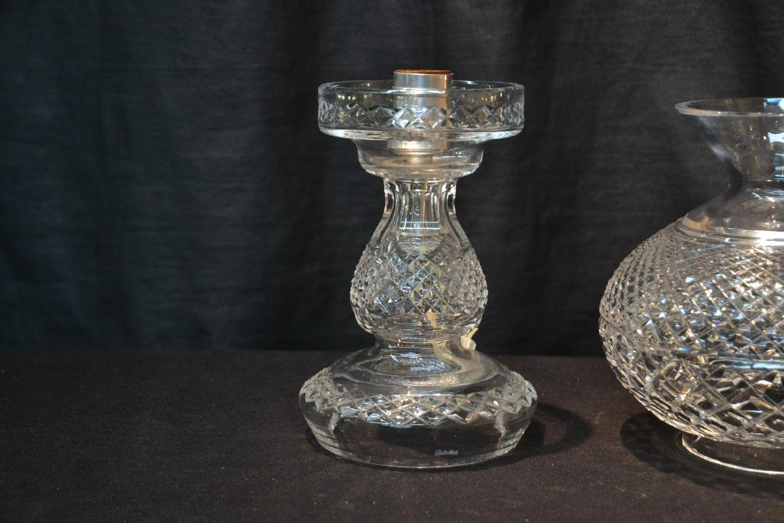 "WATERFORD CRYSTAL LAMP - 6 1/2"" x 14 1/2"" - 3"