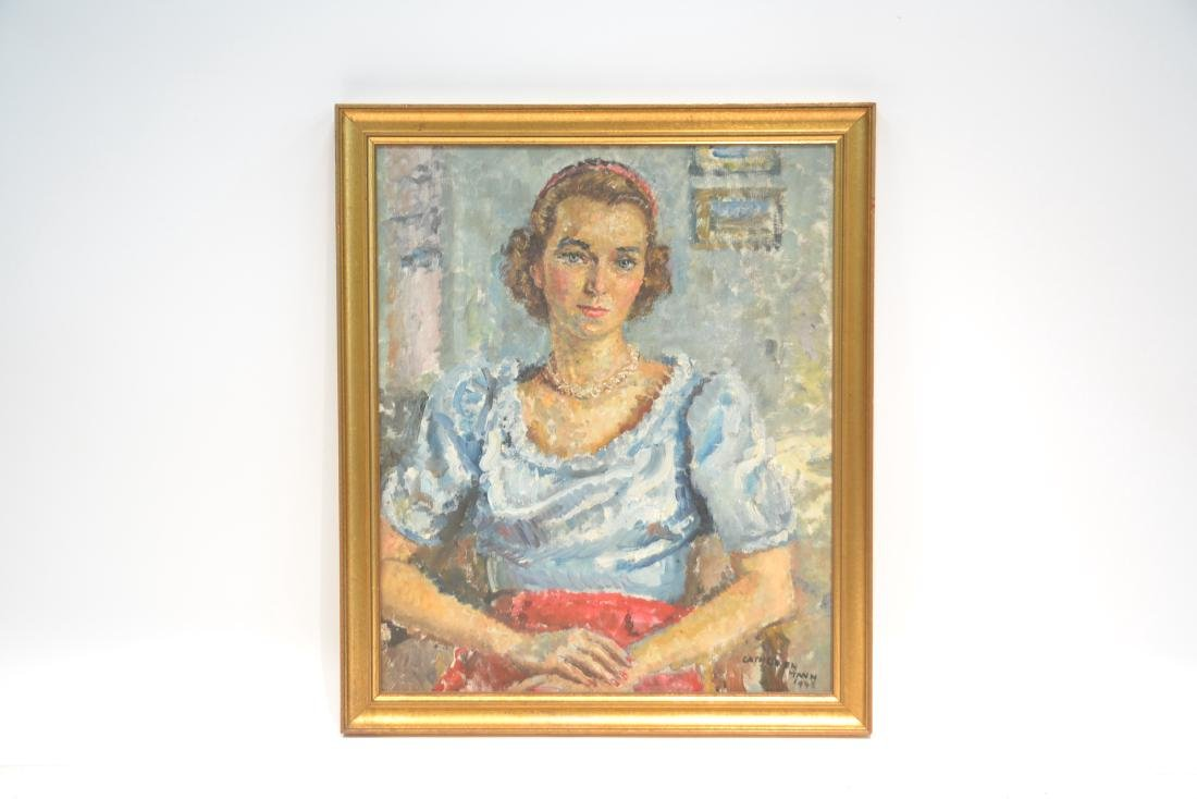 OIL ON CANVAS PORTRAIT OF WOMAN SIGNED - 2