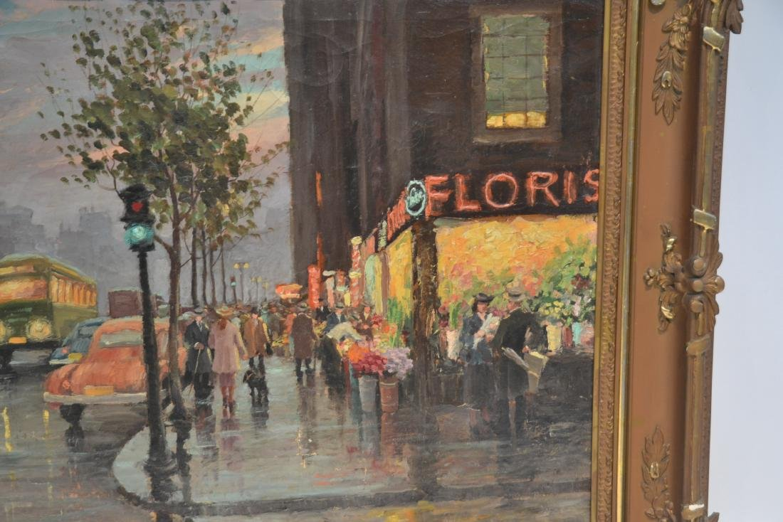 OIL ON CANVAS PARIS STREET SCENE ; SIGNED - 2
