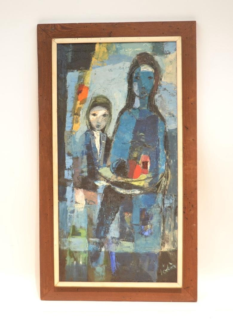 IMMPRESSIONIST OIL ON CANVAS OF FIGURES