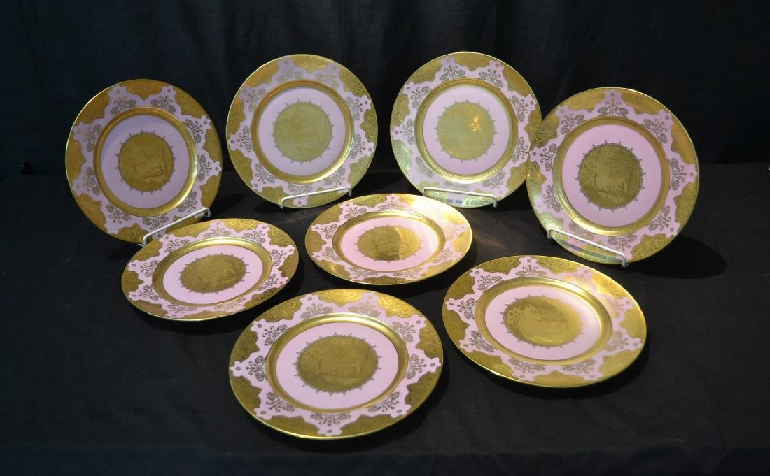 (8) KARLSBAD W.GERMANY SERVICE PLATES WITH