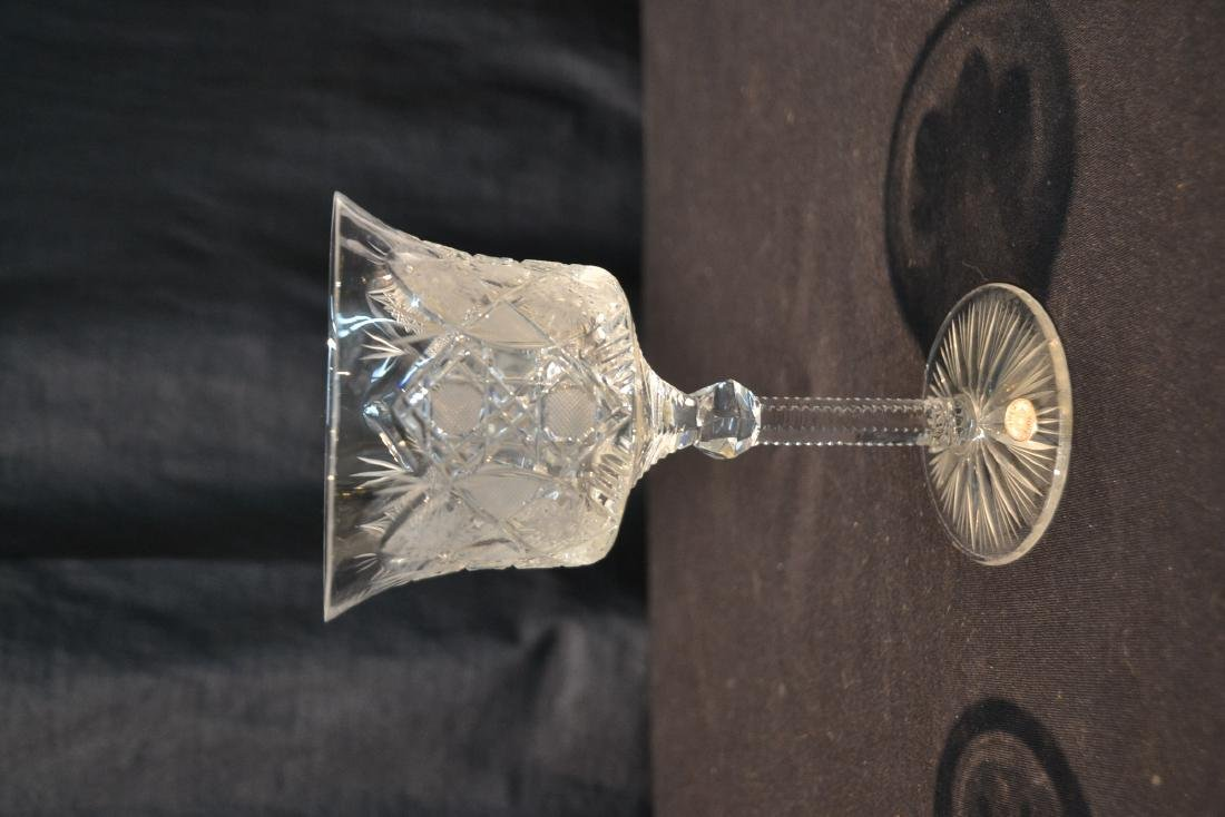 (47)pc CZECHOSLOVAKIA CUT GLASS STEMWARE - 5