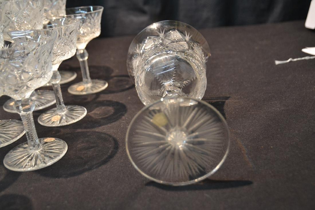 (47)pc CZECHOSLOVAKIA CUT GLASS STEMWARE - 7