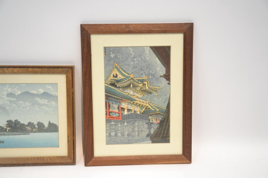 (2) JAPANESE WOOD BLOCK PRINTS  BY KASAMATSU SHIRO - 2