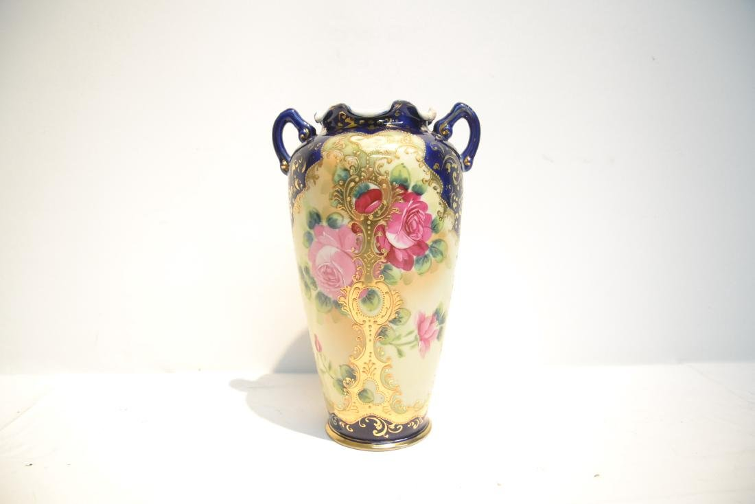 "UNSIGNED NIPPON VASE - 7"" x 11"" - 4"