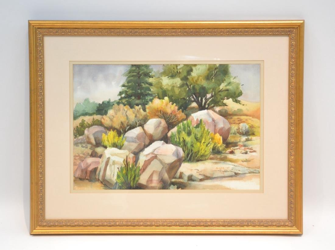 LILLIAN GOULD , WATERCOLOR OF TIJERAS CANYON