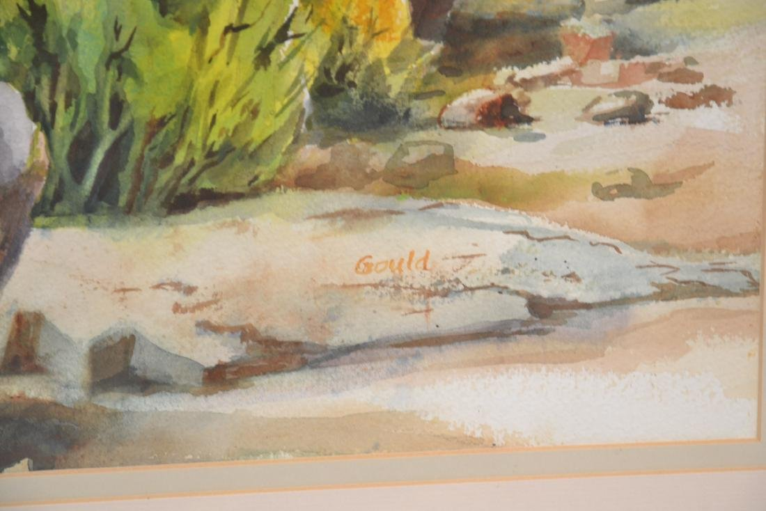 LILLIAN GOULD , WATERCOLOR OF TIJERAS CANYON - 6