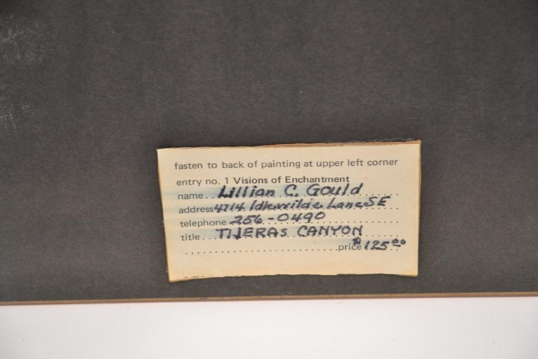 LILLIAN GOULD , WATERCOLOR OF TIJERAS CANYON - 8