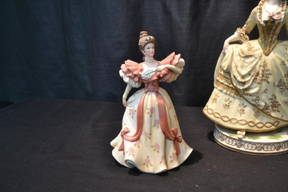 PORCELAIN FIGURE OF WOMAN & (2) LENOX PORCELAIN - 2