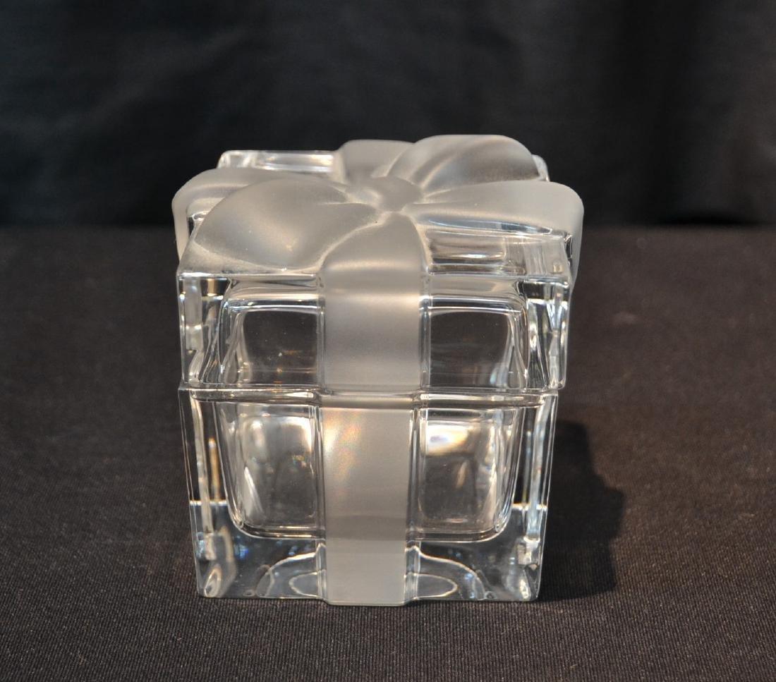 "TIFFANY & Co. CRYSTAL COVERED BOX - 3"" x 3"" x 3"""