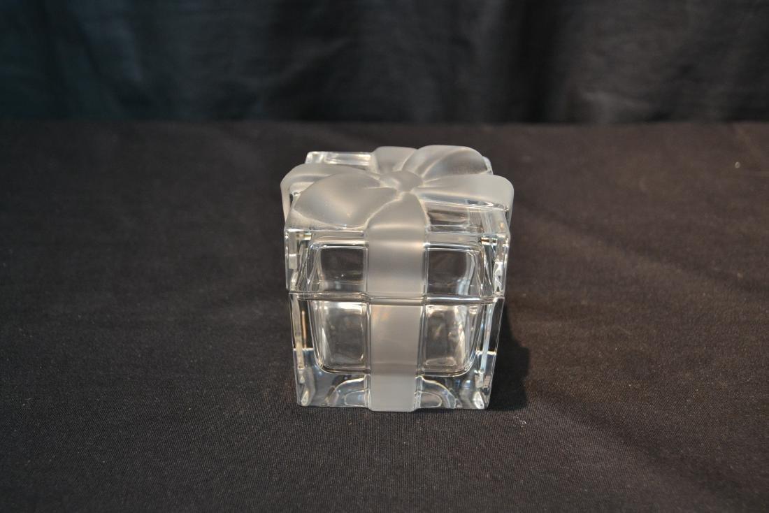 "TIFFANY & Co. CRYSTAL COVERED BOX - 3"" x 3"" x 3"" - 2"