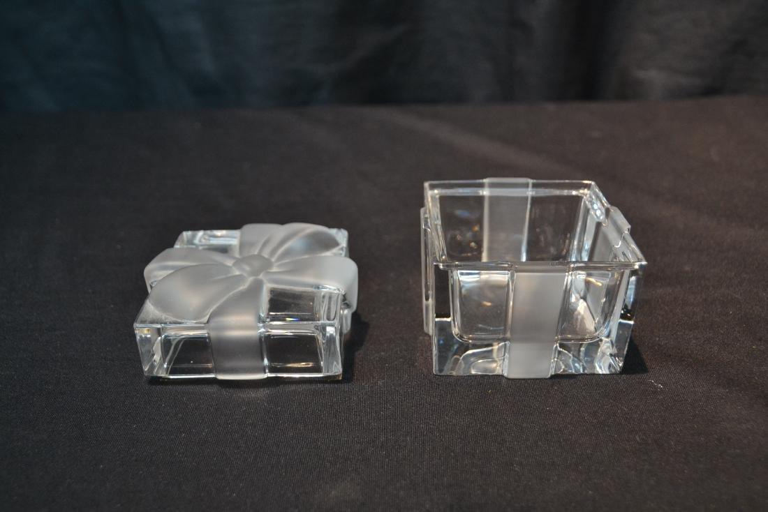 "TIFFANY & Co. CRYSTAL COVERED BOX - 3"" x 3"" x 3"" - 3"