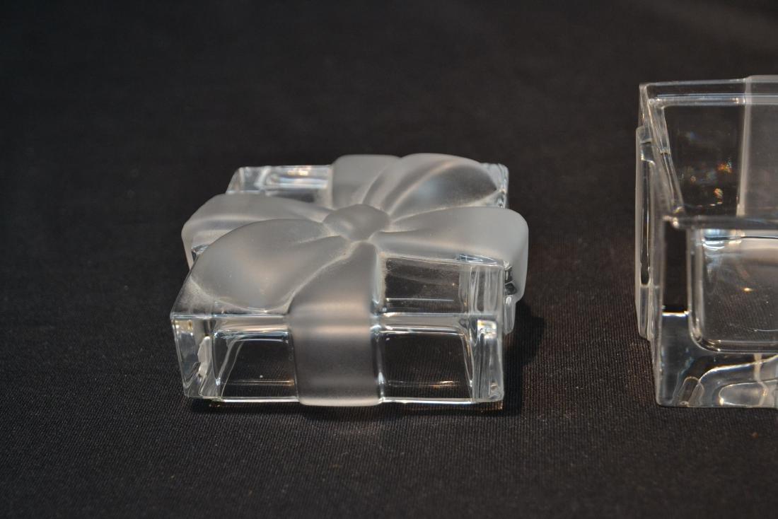 "TIFFANY & Co. CRYSTAL COVERED BOX - 3"" x 3"" x 3"" - 4"