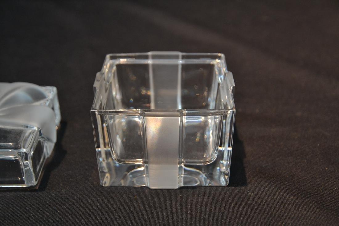 "TIFFANY & Co. CRYSTAL COVERED BOX - 3"" x 3"" x 3"" - 5"
