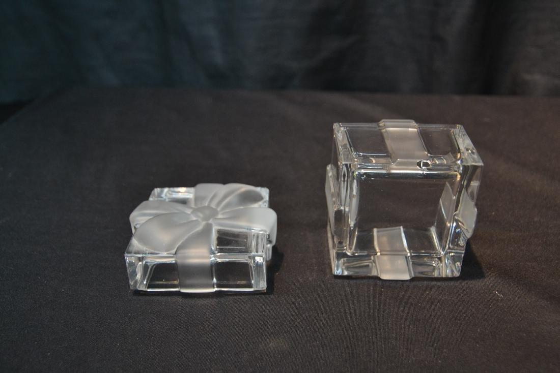 "TIFFANY & Co. CRYSTAL COVERED BOX - 3"" x 3"" x 3"" - 6"
