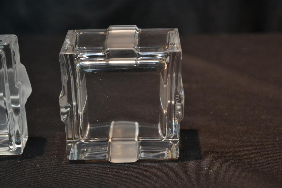 "TIFFANY & Co. CRYSTAL COVERED BOX - 3"" x 3"" x 3"" - 7"