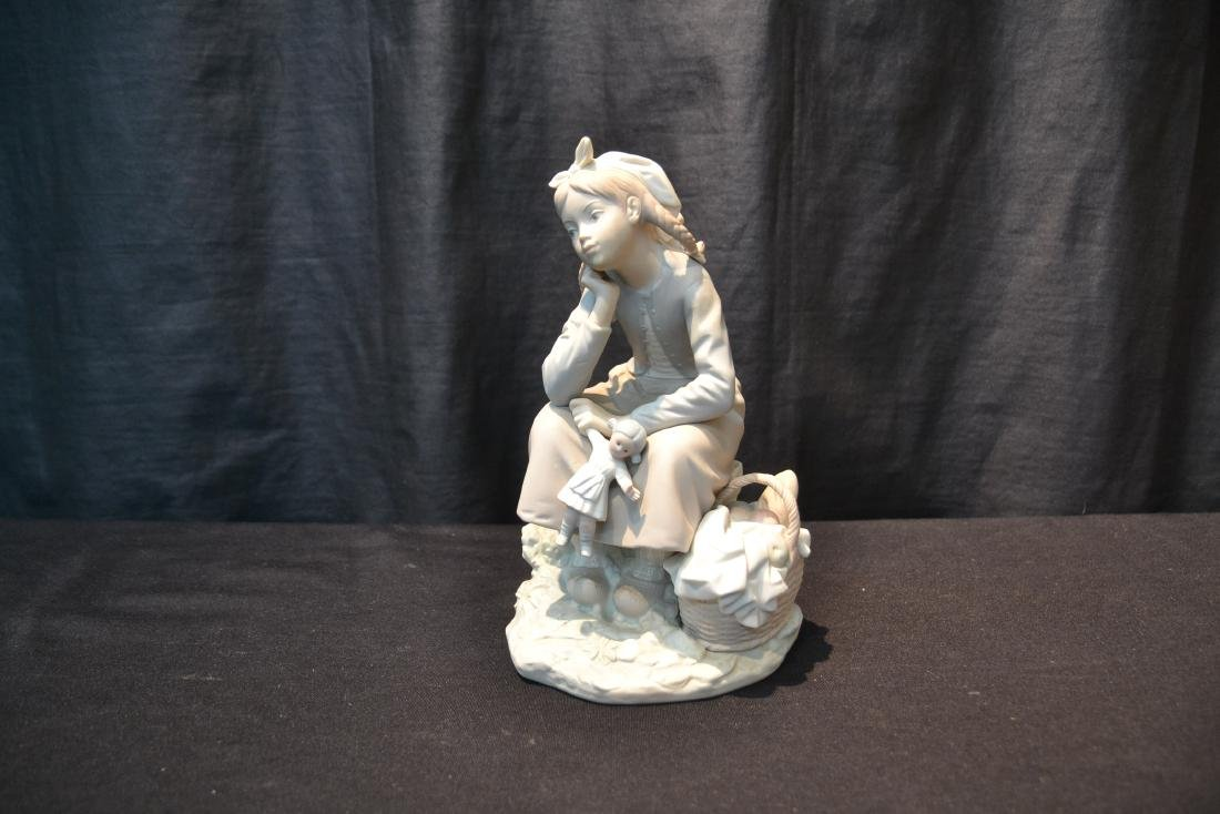 """MATTE LLADRO GIRL WITH DOLL - 6"""" x 9"""" - 2"""