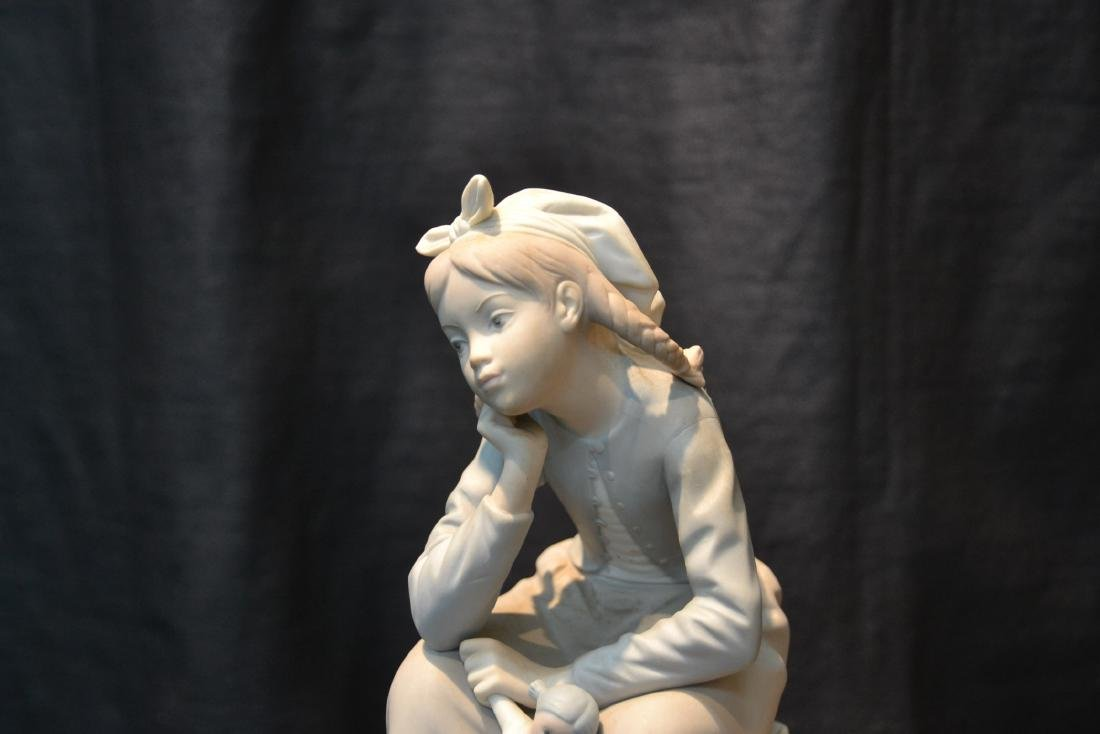 """MATTE LLADRO GIRL WITH DOLL - 6"""" x 9"""" - 3"""