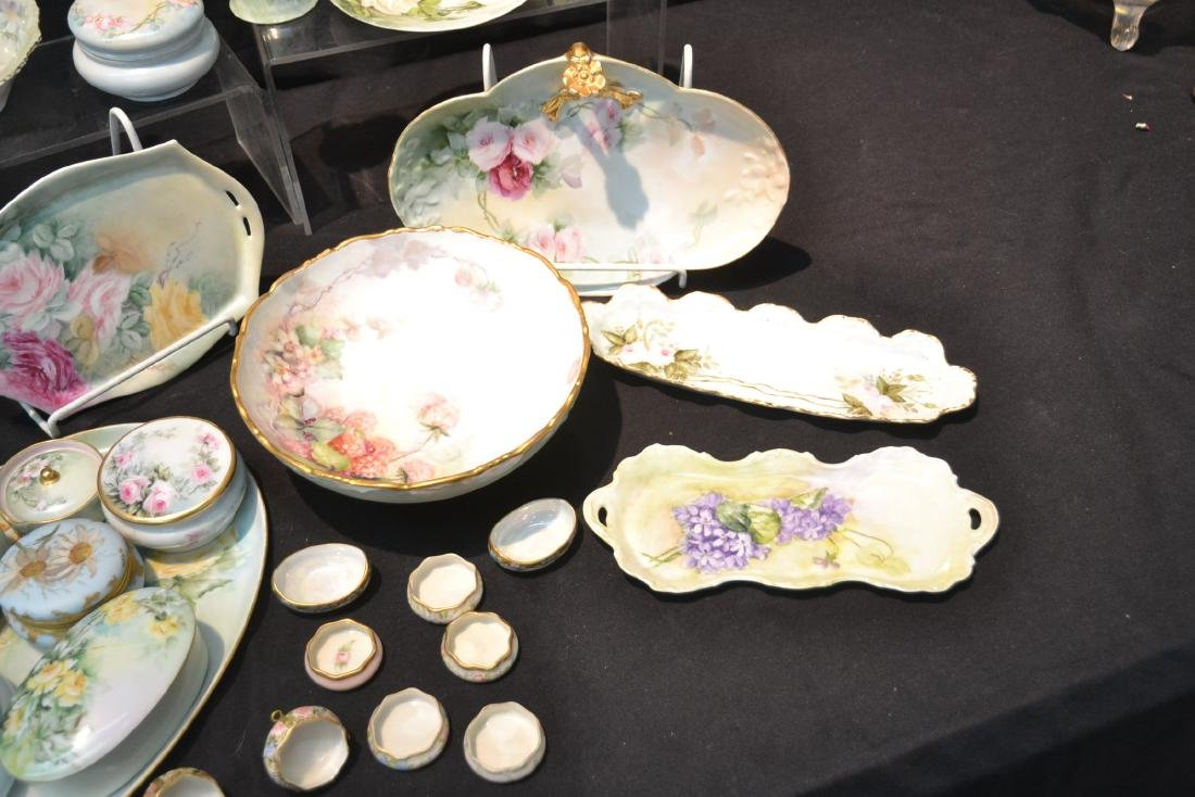 (21)pc LOT OF HAND PAINTED PORCELAIN DISHES & - 7