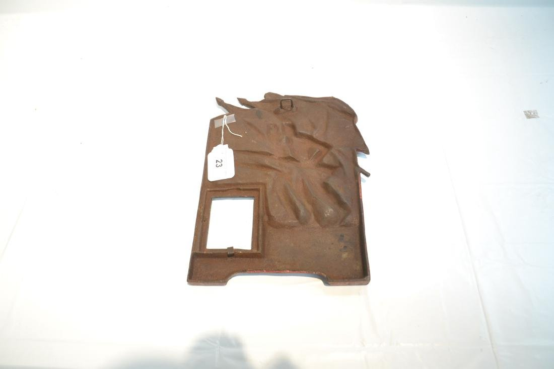 COLD PAINTED IRON RELEIF PLAQUE OF FRENCH SOLDIERS - 9