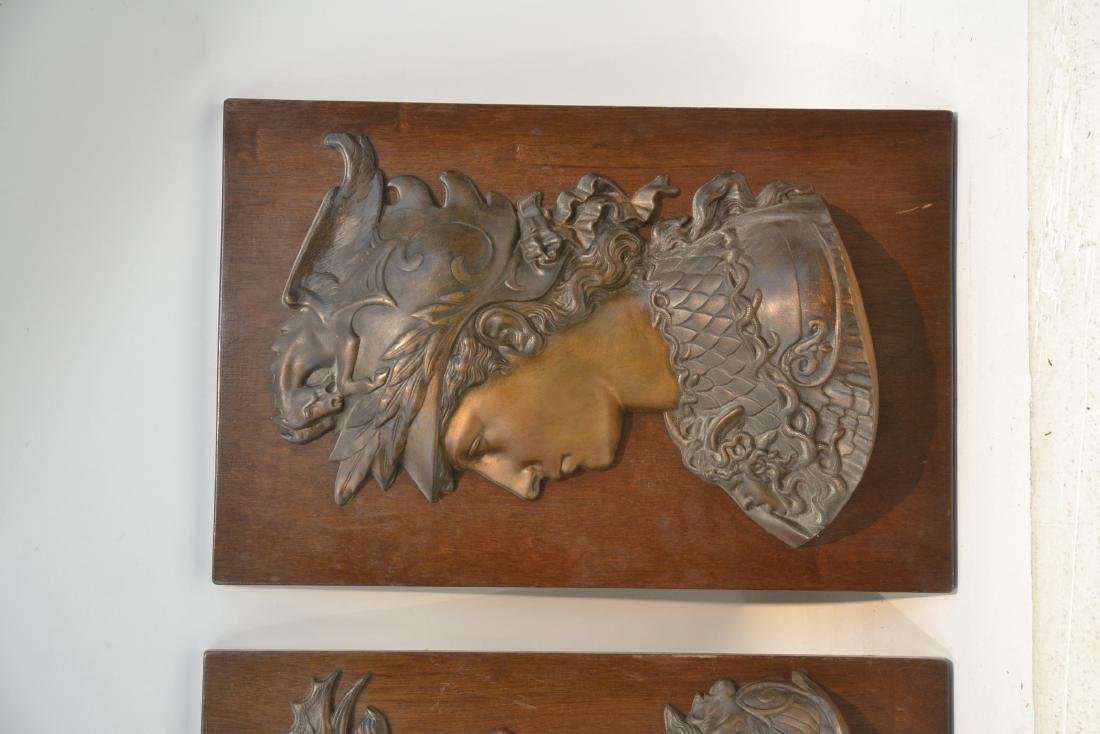 (Pr) BRONZE ROMAN BUSTS MOUNTED ON WOOD - 3