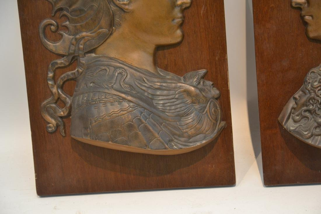 (Pr) BRONZE ROMAN BUSTS MOUNTED ON WOOD - 7