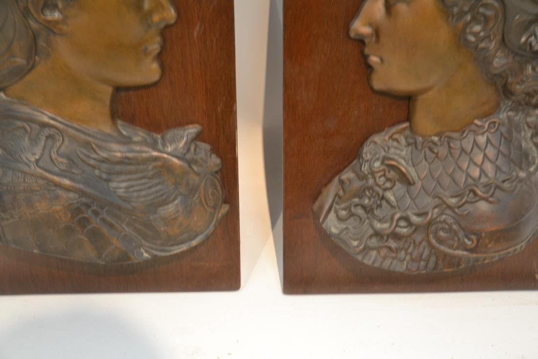 (Pr) BRONZE ROMAN BUSTS MOUNTED ON WOOD - 8