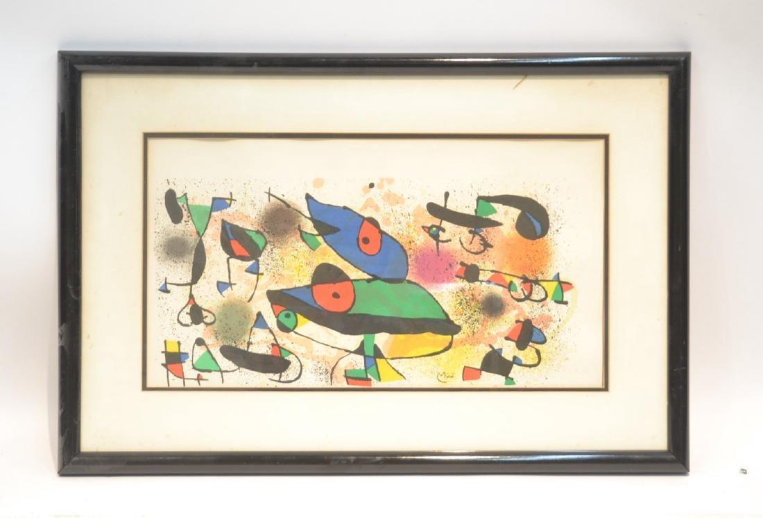 JOAN MIRO (1893-1983) ORIGINAL STONE LITHOGRAPH