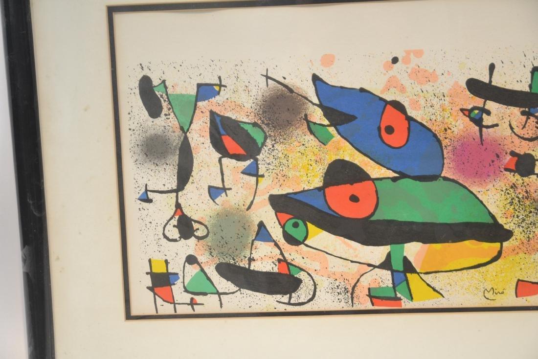 JOAN MIRO (1893-1983) ORIGINAL STONE LITHOGRAPH - 3