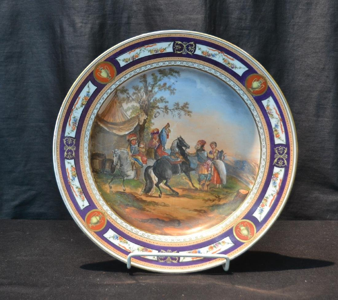AUGUSTUS REX , HAND PAINTED PORCELAIN CHARGER