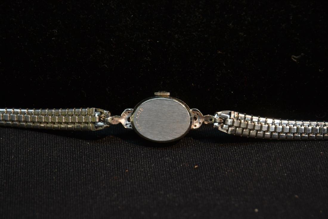 14kt WHITE GOLD & DIAMOND JULES JURGENSEN WATCH - 5