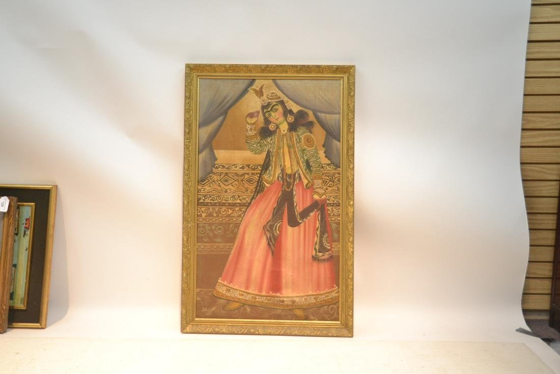 LARGE OIL ON CLOTH OF PERSIAN FIGURES - 2