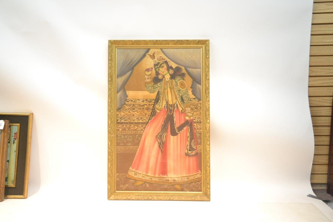 LARGE OIL ON CLOTH OF PERSIAN FIGURES - 3