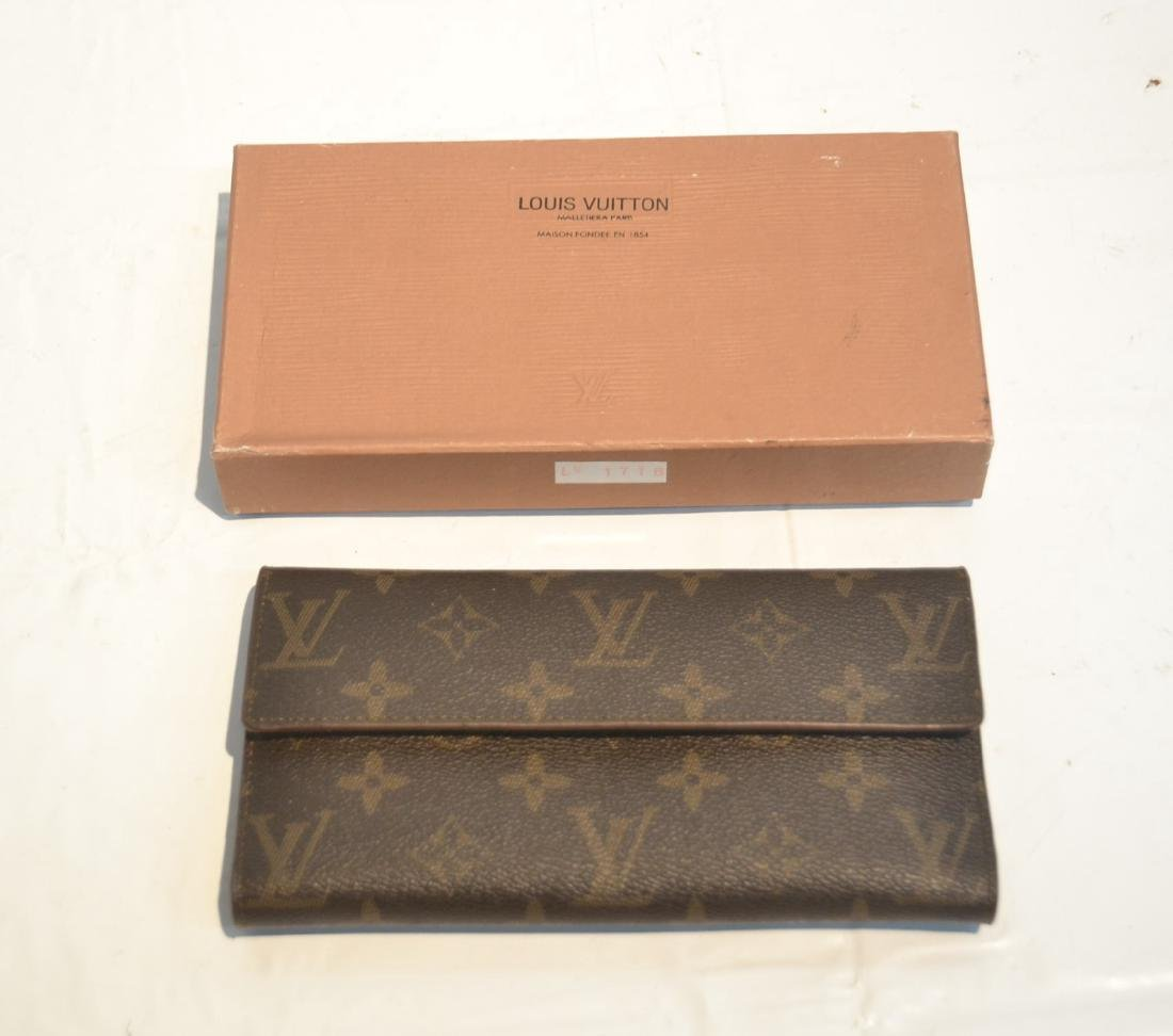 """LOUIS VUITTON WALLET WITH BOX - 7 1/4"""" x 4"""""""