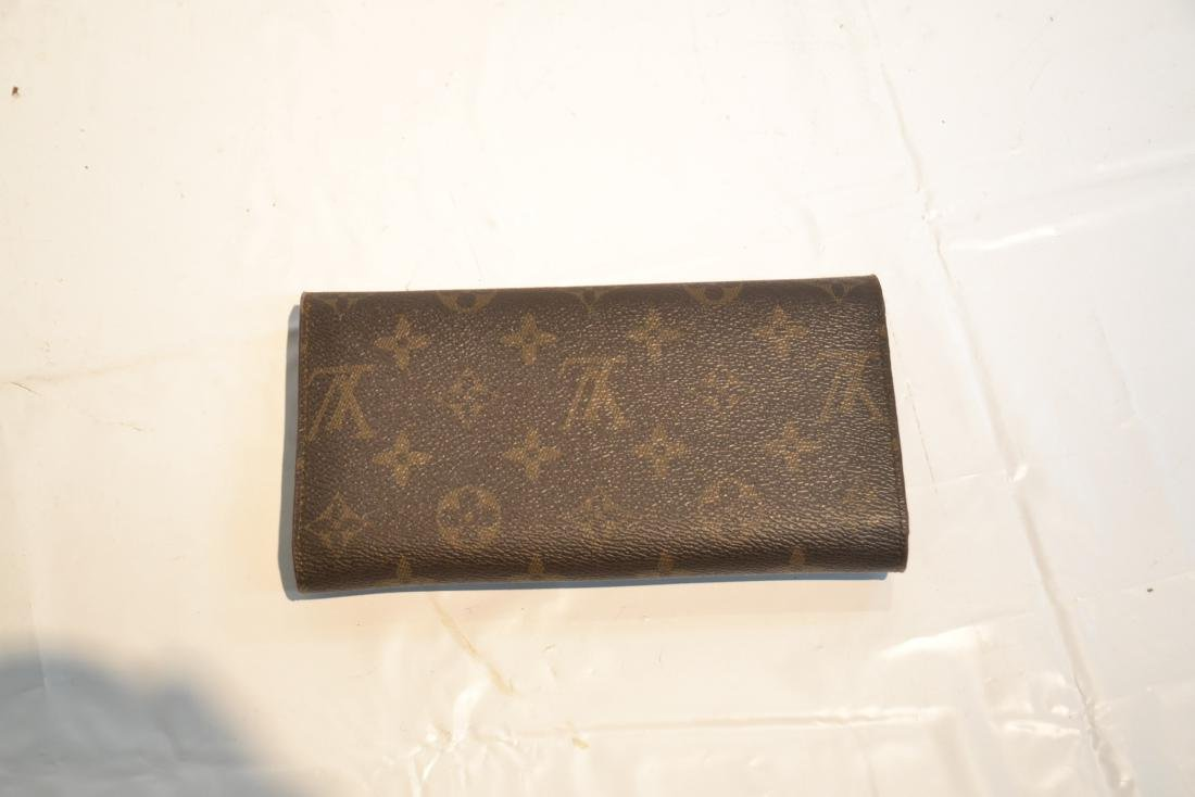 """LOUIS VUITTON WALLET WITH BOX - 7 1/4"""" x 4"""" - 3"""