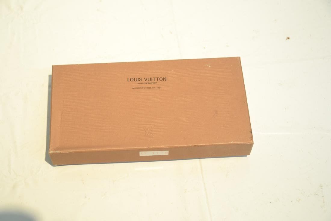 """LOUIS VUITTON WALLET WITH BOX - 7 1/4"""" x 4"""" - 5"""