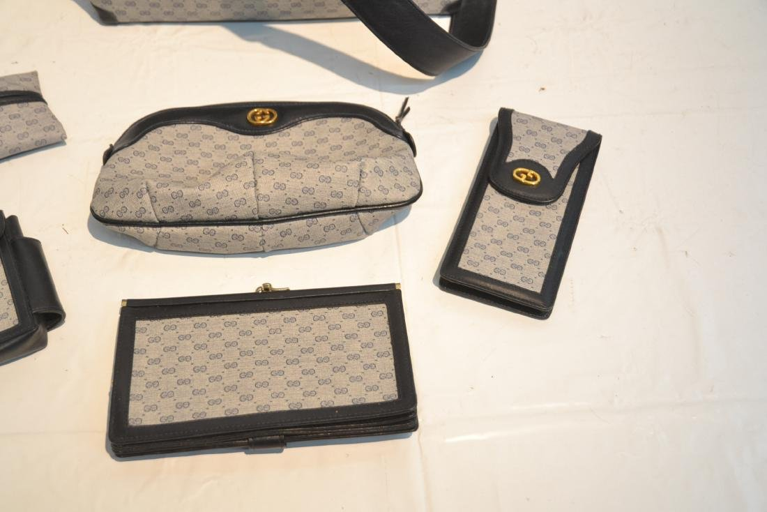 "GUCCI BAG WITH (5) ACCESSORY CASES - 12"" x 10"" - 4"