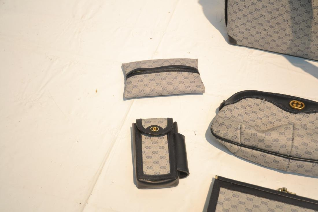 "GUCCI BAG WITH (5) ACCESSORY CASES - 12"" x 10"" - 5"