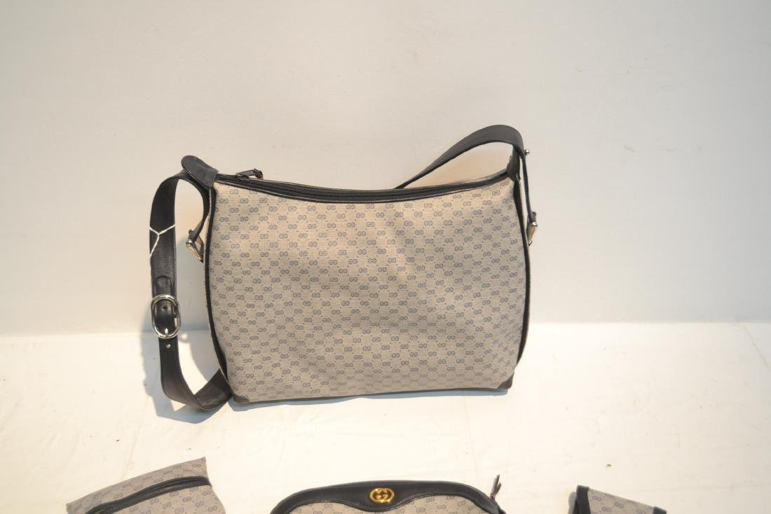 "GUCCI BAG WITH (5) ACCESSORY CASES - 12"" x 10"" - 6"