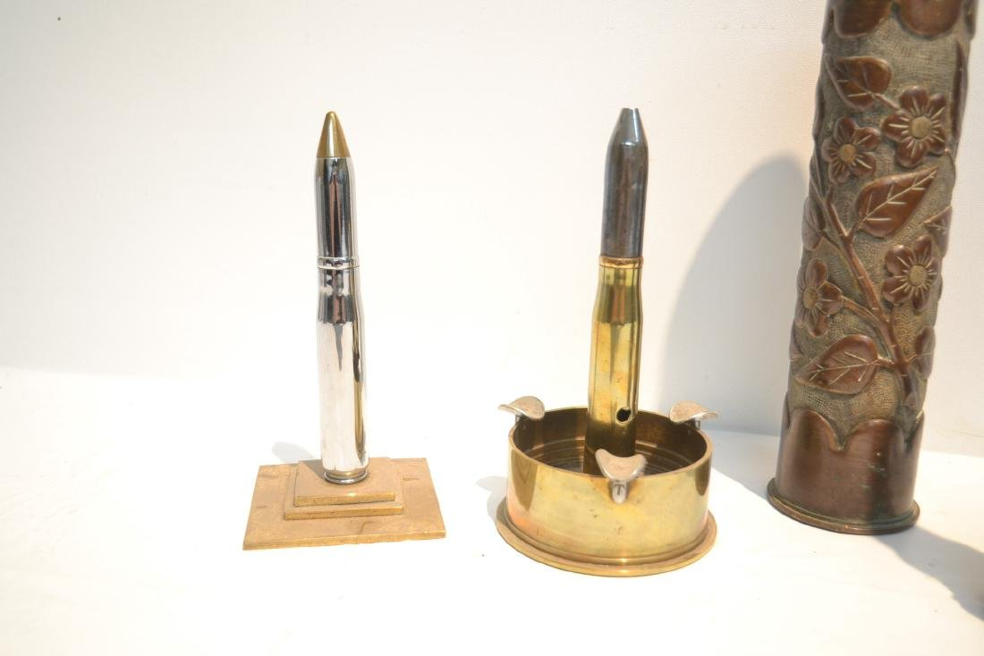 (5)pc LOT OF BULLET LIGHTERS , ASHTRAY , - 4