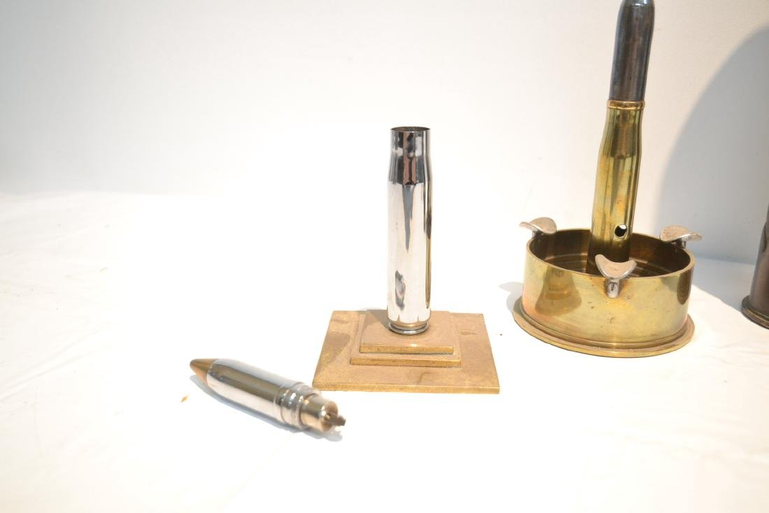 (5)pc LOT OF BULLET LIGHTERS , ASHTRAY , - 5